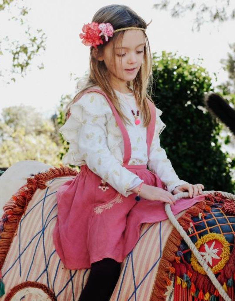 Louise Misha Tights Paulina Burgundy