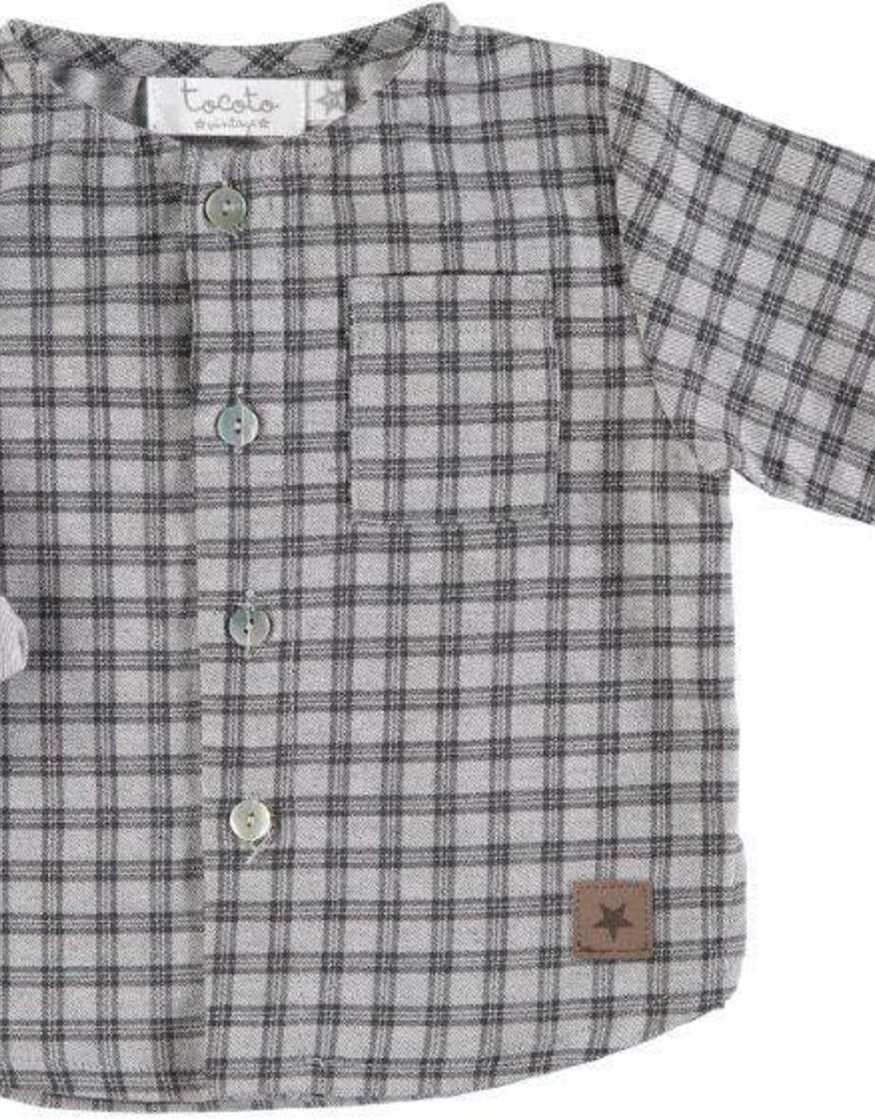 Tocoto Vintage Checkered baby shirt