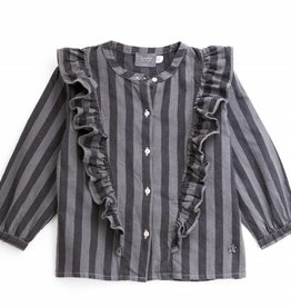 Tocoto Vintage Striped Denim Girl Shirt