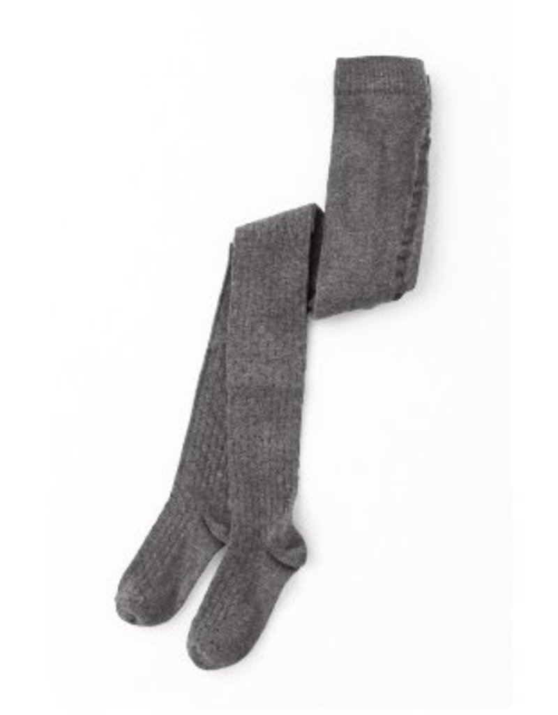 Tocoto Vintage Ribbed Tights Grey