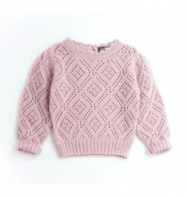 Tocoto Vintage Lace Fabric Girl Jersey Pink