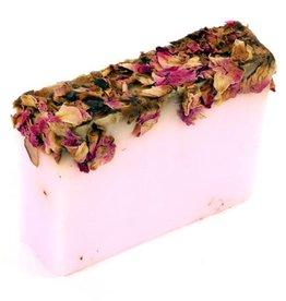 Zeepblokje Rozen en rozenblaadjes
