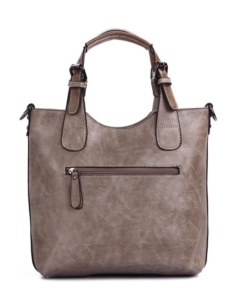 Ines Delaure Handbag Taupe
