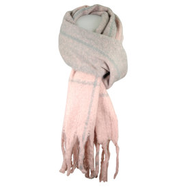 Shawl  pink/lightgray