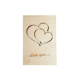 Wooden Card: Love You