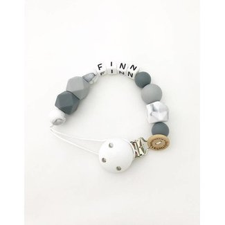 Pacifier Cord – grey-marble