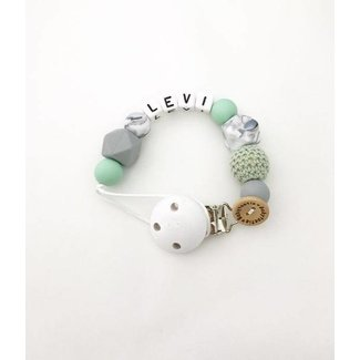 Pacifier Cord – mint-marble-grey