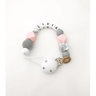 Pacifier Cord – lightpink-grey-marble