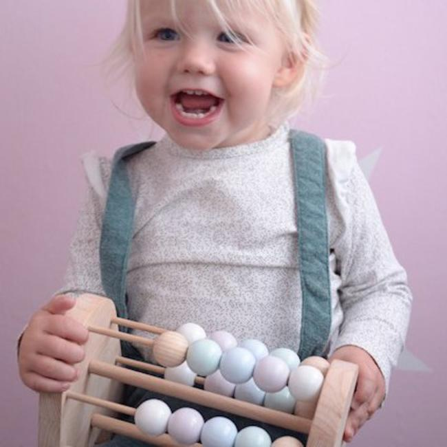 Wooden Toy – Abacus – Tiny – Pastel