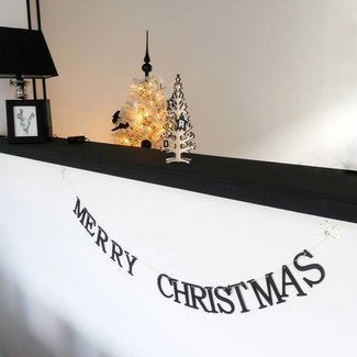 Christmas banner - Merry Christmas - Black