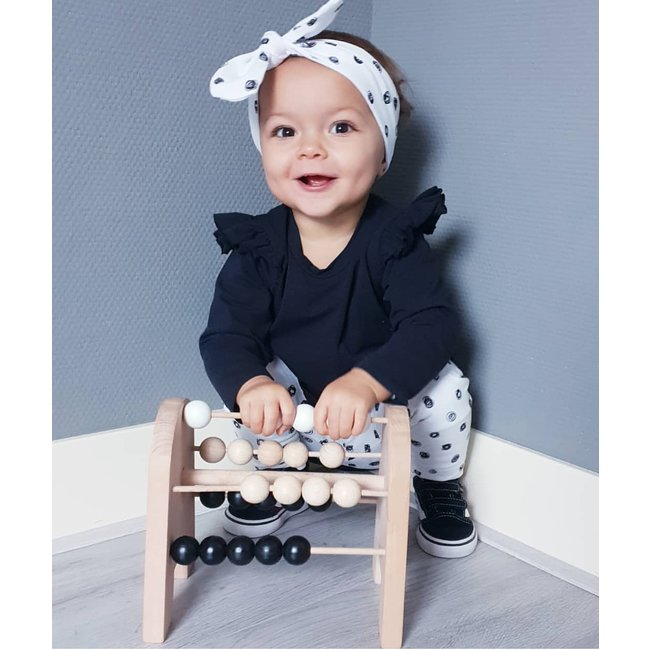 Wooden Toy – Abacus – Tiny – Monochrome