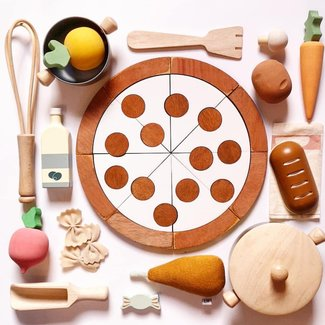 Wooden Toy – Pizza Puzzel