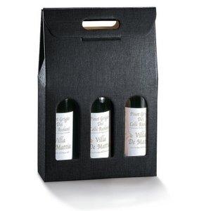 Thetasteofcroatia.com Wijncadeau doos (3 flessen, zwart)