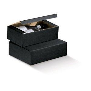 Thetasteofcroatia.com Gift box for 2 bottles (black)