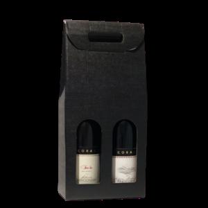 Thetasteofcroatia.com Wijncadeau doos (2 flessen, zwart)