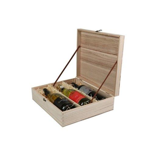 Thetasteofcroatia.com Wooden wine box 3 bottles