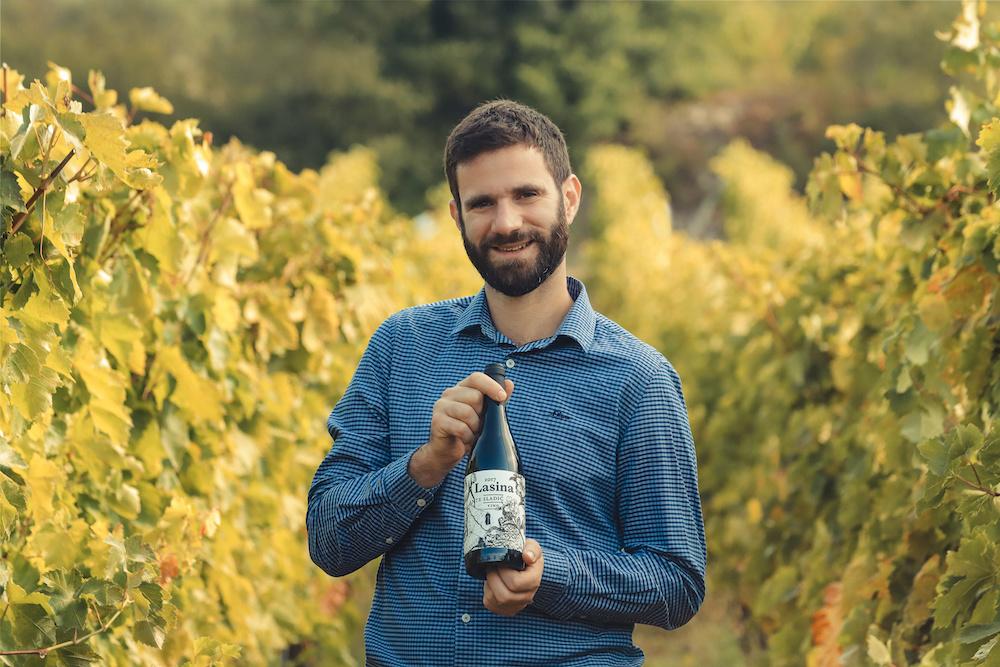 Ante Sladić in the vineyard