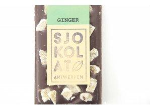 SJOKOLAT A dark chocolate bar with ginger
