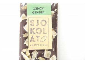 SJOKOLAT A dark chocolate bar with ginger and lemon