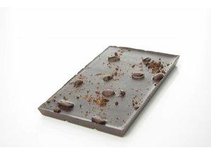 SJOKOLAT A bar of dark chocolate with roasted coffee beans