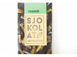 SJOKOLAT Tablet pure chocolade met sinaasappel
