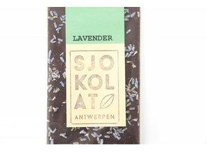 SJOKOLAT A dark chocolate bar with lavender