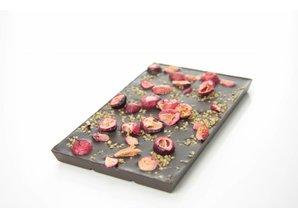 SJOKOLAT Dark chocolate with cranberry and quinoa