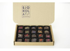 SJOKOLAT Assorted chocolates - Flower Power - 20 pieces
