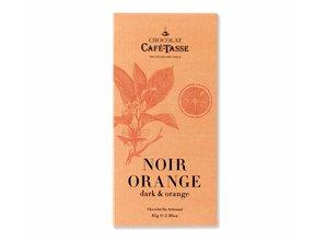 Café-Tasse Tablet Pure Chocolade met Geconfijte Sinaasstukjes