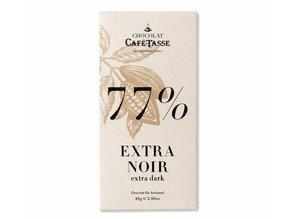 Café-Tasse Tablet Extra Pure Chocolade 77% Cacao