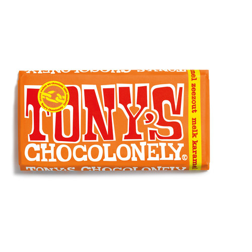 Tony Chocolonely sea salt caramel 180gr