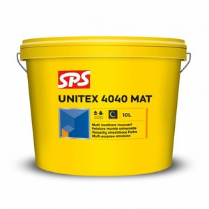 SPS Unitex 4040 Mat Wit 10 Liter