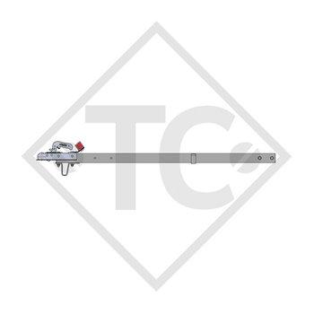 Zugdeichsel Typ R4 Ausf. A3 vierkant gerade bis 750kg für Hutprofil 90mm