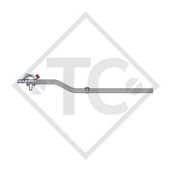 Zugdeichsel Typ K4 Ausf. A2 vierkant gekröpft bis 750kg mit Auflagebock 249317