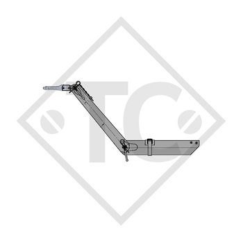 Towbar connection toothed washer type 103 VB vers. G height-adjustable with drawbar section up to 1000kg