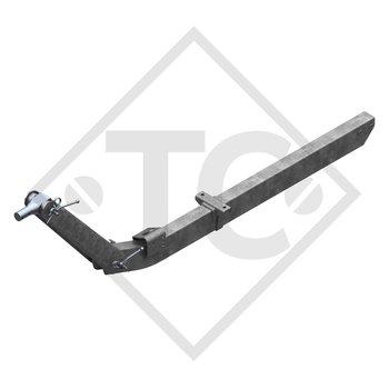 Zugverbindung Zahnscheibe Typ 70.1 VO Ausf. C1 höhenverstellbar mit Deichselprofil bis 750kg, 2 Auflageböcke