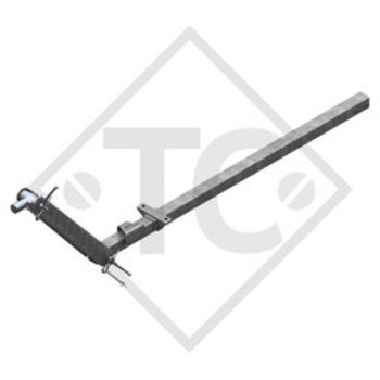 Towbar connection toothed washer type 75 VU vers. A1 height-adjustable with drawbar section up to 750kg and parking brake