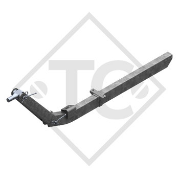 Towbar connection toothed washer type 162 VB vers. M height-adjustable with drawbar section up to 1600kg and parking brake