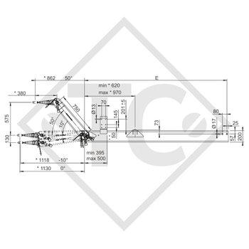 Zugdeichsel höhenverstellbar Typ 501 VB Ausf. A für druckluftgebremste Anhänger bis 5000kg