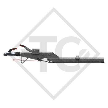 Enganche de inercia cuadrado modelo 161 S/B - K16 con lanza curvada 700 a 1350kg