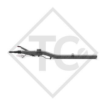 Enganche de inercia cuadrado modelo 161 S - K26 vers. A con lanza curvada 950 a 1600kg, para perfil en U
