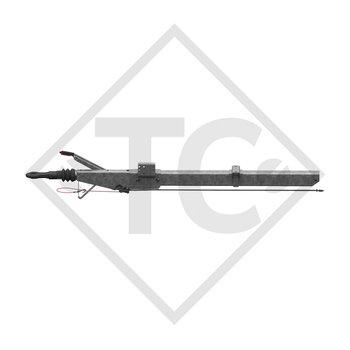 Enganche de inercia cuadrado modelo 251 S - K26 vers. A con lanza curvada 1500 a 2200kg