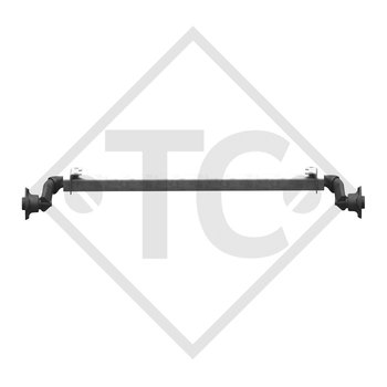 Unbraked axle 750kg BASIC axle type 700-5 watertight