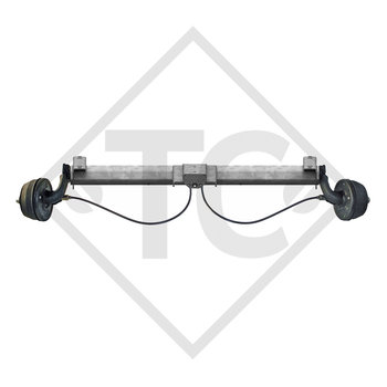 Braked axle 750kg BASIC axle type B 700-5 with top hat profile 90mm