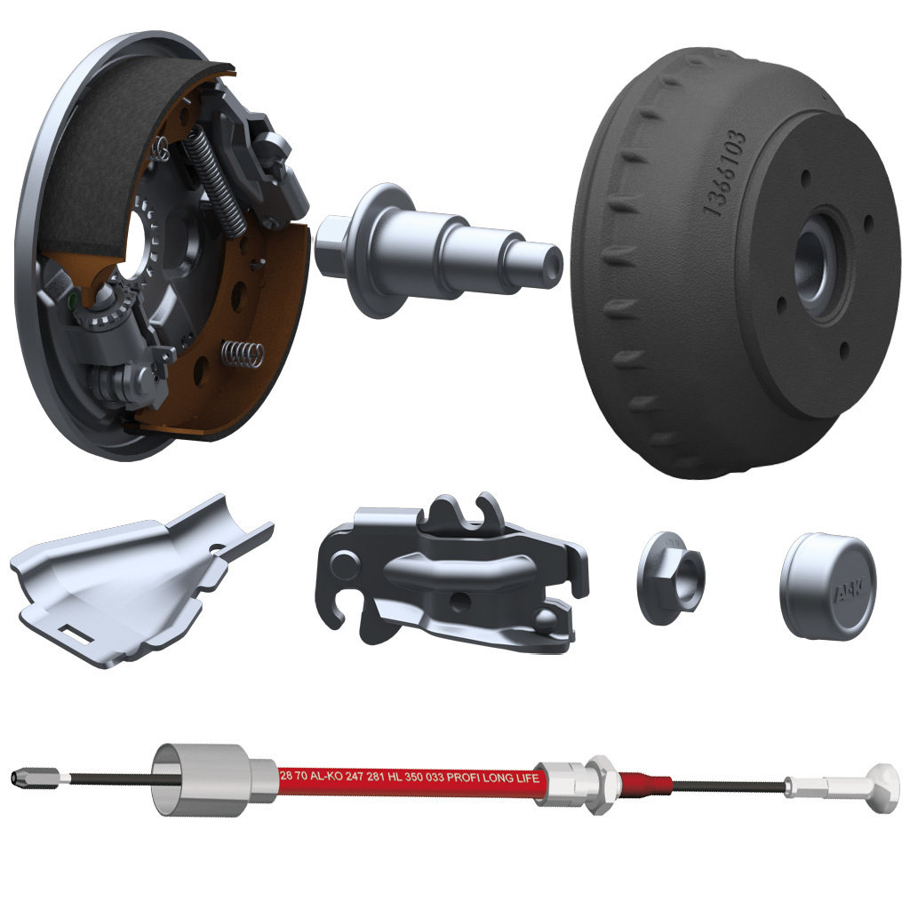 PARTS LIST FOR AXLES