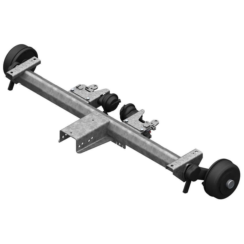 AXLES WITH RUBBER SUSPENSION FOR TRAILERS WITH PNEUMATIC BRAKES, SINGLE AXLE UP TO 1800KG, AXLE TYPE BL 1800