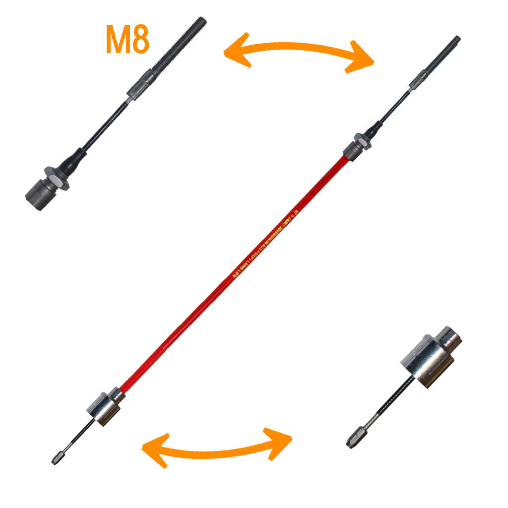 BOWDEN CABLES WITH BELL AND THREADED PIECE M8