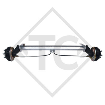 Braked tandem front axle 1000kg BASIC axle type B 850-10 with AAA (automatic adjustment of the brake pads)