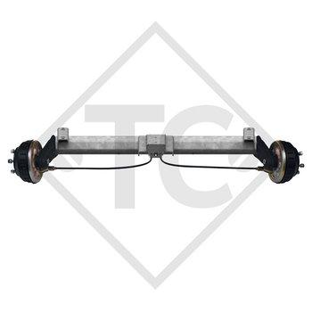 Tandem Vorderachse gebremst 1000kg BASIC Achstyp B 850-10 mit Hutprofil 90mm und AAA (Automatische Nachstellung der Bremsbeläge)