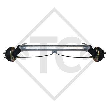Eje con freno 1350kg BASIC tipo de eje B 1200-6 con AAA (Reajuste automático de las zapatas de freno)